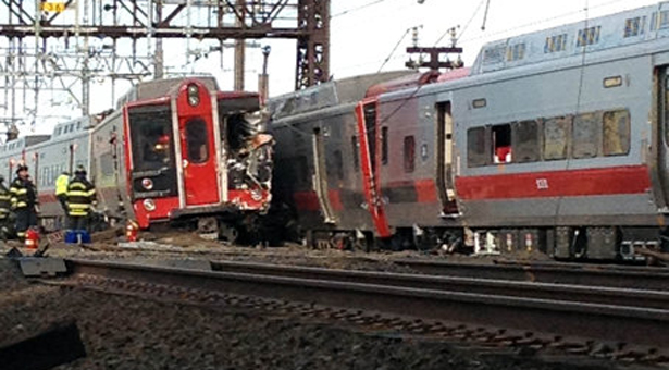 Nearly 50 injured as US commuter trains collide