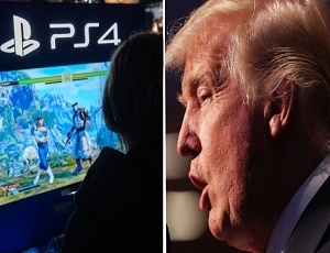 Trump holds games violence meeting.